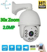 30X ZOOM HD 1080P 2.0 MP Outdoor PTZ IP Speed Dome Camera IR 120M Night CMOS 7''
