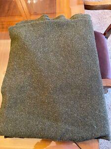 """US Army 100% Wool Blanket Bed Serge Wool 66"""" x 84"""" 7210-00-282-7950"""