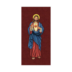 Holy Images Sacred Heart of Jesuse Retractable Banner Stand