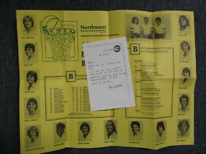 1983 Northwest Missouri St Womens Basketball Poster + Signed WAYNE WINSTEAD Note