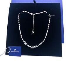 New Authentic SWAROVSKI Rhodium Sparkle Crystals Pave Louison Necklace 5419235
