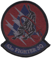 USAF 63d Fighter Squadron Embroidered Patch ** LAST FEW **