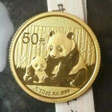 2012 China 50 Yuan 1/10oz Gold Panda in Mint Plastic
