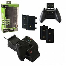 Xbox One Dual Charging Dock Charger + 2 Rechargeable Batteries KMD NEW