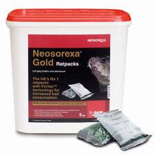 Neosorexa Gold Rat Packs Bait Poison 5.1Kg ( 51 x 100g Packs)