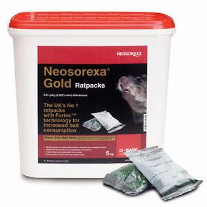 Neosorexa Gold Rat Packs Bait Poison 5Kg ( 50 x 100g Packs)!!!