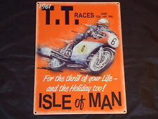 Tin Motorbike Decorative Plaques & Signs