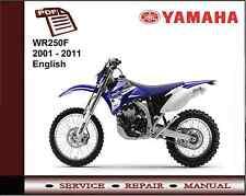Yamaha Wr250f Wr250 2001 - 2011 Service Reparación Manual De Taller