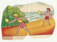 Judaica Old Children Cardboard Stand Toy on the Beach