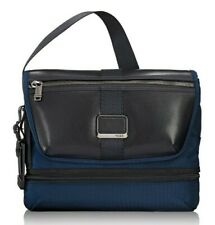 New $295 Tumi Alpha Bravo Travis Navy Ballistic Nylon/Leather Messenger Bag