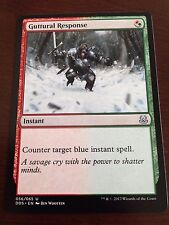 Magic the Gathering GUTTURAL RESPONSE MTG Duel Deck Mind vs. Might  many avail