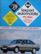 Revue technique OPEL OMEGA 1800 2000 + 2300 diesel et Turbo D EXPERT N° 270 1989