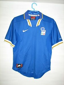 ITALY 1996-97 HOME SHIRT NIKE JERSEY SOCCER SIZE S