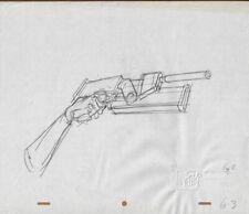 Aeon Flux Production Cel Cell Original Drawing Animation Art 90s Mtv Gun