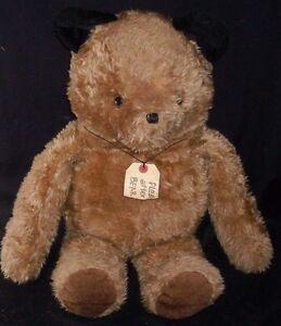 "27"" VINTAGE EDEN JUMBO PADDINGTON BROWN TEDDY BEAR STUFFED ANIMAL PLUSH TOY TAG"