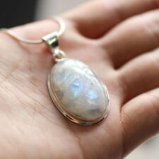 Natural Moonstone Pendant 925 Sterling Silver Pendant
