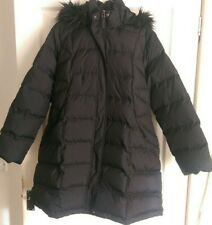 Marks And Spencer's Per Una Ladies Black Winter Feather & Down Winter Coat XL