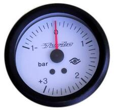 Manometro PRESSIONE TURBO Analogico Diffusione -1+3 bar BIANCO Road Italia 60 mm