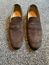 CHURCHS BROWN SUEDE LOAFERS SIZE 8 EXCELLENT CONDITION