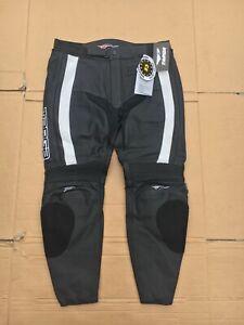 "TARGA Mens Leather Race Motorbike Motorcycle Trousers UK 38"" Waist 29"" leg (LBB)"