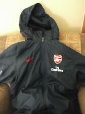 Nike Team Youth XL Arsenal Fly Emirates Navy Zip Up Lined Jacket  Hood Storm Fit