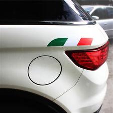 2X Italy Flag Sticker Emblem Metal Badge for Italian Car Fiat Alfa Romeo ABARTH