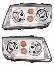 Headlights Left Right Pair For VW Bora 1998-2005
