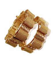 Indian Ethnic Women Gold Plated Wedding CZ Bangles Bracelets Set Bridal Jewelry