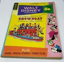 Walt Disney Comics Digest 41 June 1973 Showboat Mickey Mouse Donald Duck Daisy