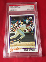 Graig Nettles Yankees Topps Baseball Card #250 PSA MINT 9 Hard Case  Make Offer!