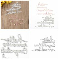 Hello Words Set Metal cutting dies Templates Stencil Paper card DIY Handcrafts