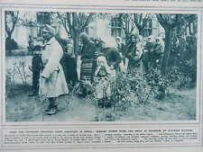 1915 SERBIAN WOMEN & CHILDREN LED AWAY BY AUSTRIANS; FRENCH NAVAL GUN WWI WW1