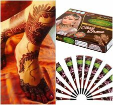 Vimal's Sehnaaz Choco Brown Henna Cones By Golecha Henna World Pack of 12 cones