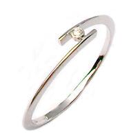 Anello fidanzamento solitario in oro bianco 18 kt  con diamante naturale