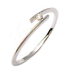 Anillo compromiso solitario de oro blanco 18 ct con diamante natural