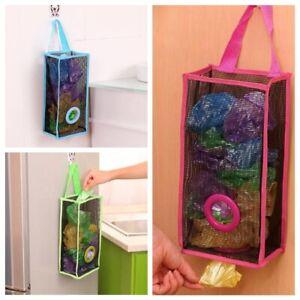 1PC Plastic Carrier Bags Household Shopping Storage Holder Store Dispenser bag