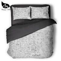Geek sci-fi DNA mathematics chemistry children's room bedding set Quilt cover