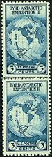 #753 HORIZONTAL LINE PAIR 1935 3c BYRD FARLEY ISSUE MINT-NH/NO GUM AS ISSUED