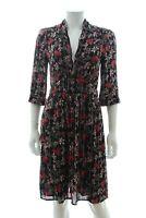 Ba&sh 'Eden' Floral Print Dress / Black