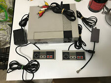 Nintendo Orginal NES Console W/ 2 Controllers And Cables + 8 Game Lot - TESTED