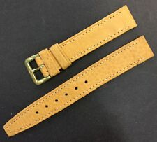 Vintage 15,50mm GENUINE LEATHER WATCH STRAP,  Mustard Color, Old Stock Brand New