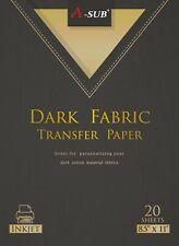 A Sub Inkjet Printable Iron On Heat Transfer Paper Dark Light Fabric 20 Sheets