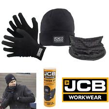 Jcb Thermal Warm Winter Gift Set Hat Knit Gloves Neck Warmer Work Accessories