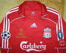 Gerrard 8 Champions League Final Athens 2007 Liverpool home shirt size L jersey