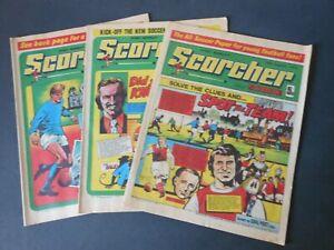 THREE 1974 Vintage SCORCHER and SCORE Comics 10/24/31 Aug