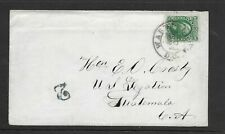 #68, 10c green, on 1864 cover to Guatemala, US Legation, PF Cert., good content