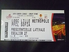 Tickets- 2010 UEFA Europa League LOSE LILLE METROPOLE v PFCL SOFIA, 21 October