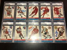 1954-55 Topps Hockey Signed Set 31/60 Gordie Howe Lindsay Schmidt Psa/Dna Slab