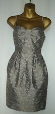 H & M Strappy Party Dress Size Euro 38 , US 8,  UK 10, Taupe / Beige