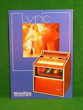 Original Wurlitzer Lyric Jukebox Brochure, Dancer